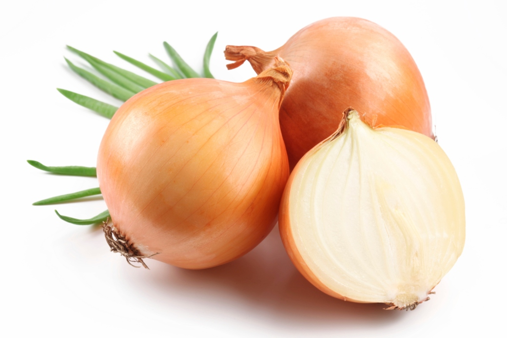 Fresh bulbs of onion.