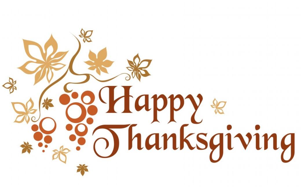 Happy Thanksgiving decorative image.