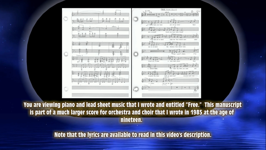 "Sheet music by Jeff H. Ulrich entitled ""Free."""